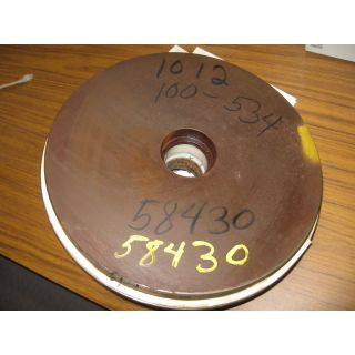"BACK PLATE - GOULDS 3196 LT - 13"" - Item 184: Parts #: 100 - 534 - 1012"