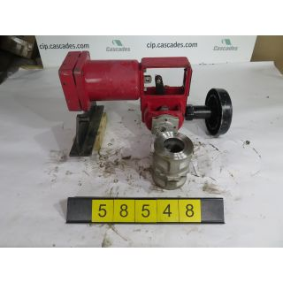 "USED ROTARY CONTROL VALVE - MASONEILAN CAMFLEX II 35002 SERIES - - MODEL:35-35102 - 2"" - FOR SALE"