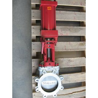 "KNIFE GATE VALVE - 6"" - TRUELINE - PNEUMATIC - RESILIENT SEAT"