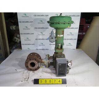 "USED GLOBE VALVE - ROTARY CONTROLS VALVE - FISHER 1052-V500 - 3"" - FOR SALE"