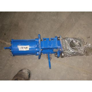 "KNIFE GATE VALVE - 3""- DEZURIK - PNEUMATIC - METAL SEAT"