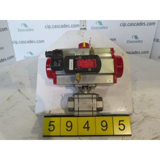 BALL VALVE - A-T CONTROLS TRIAC 88-3 PIECE BALL - 1""