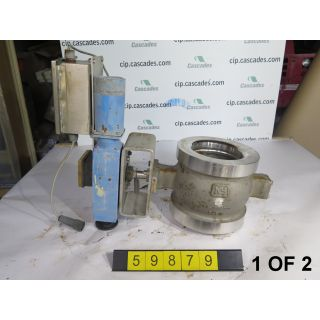 "1 OF 2 - USED V-BALL VALVE - NELES JAMESBURY R11 - 6"" - FOR SALE"