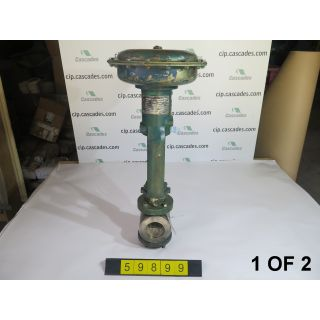 "1 OF 2 - LINEAR - GLOBE VALVE - FISHER - 2""- 3"" - USED"