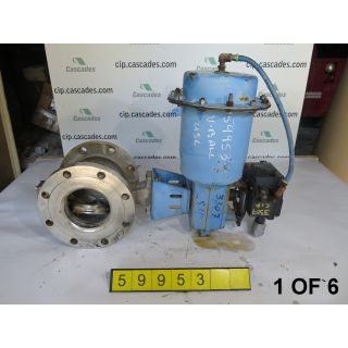 "1 OF 6 - V-BALL VALVE - NELES JAMESBURY R21 - 6"" - USED"