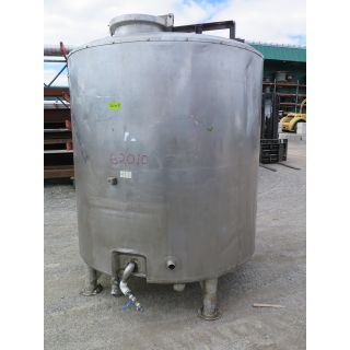 "TANK - 1000 GAL - 5'4"" x 6' STAINLESS STEEL (64"" x 72"") - JACKETED - AGITATOR MIXING TANK"