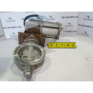 "BUTTERFLY VALVE - JAMESBURY - 8"" - USED"