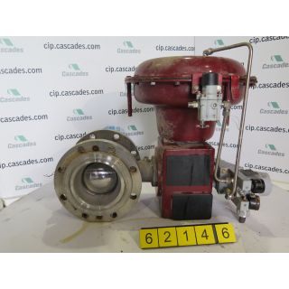 "V-BALL VALVE - MASONEILAN 33-36424 - 6"" - USED"