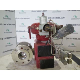 "USED V-BALL VALVE - 3"" - MASONEILAN TYPE: 33-36414 - ACTUATOR MASONEILAN - POSITIONER PARAMAX - FOR SALE"