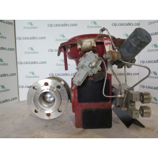 "USED V-BALL VALVE - 3"" - MASONEILAN TYPE: 33-36414 - ACTUATOR MASONEILAN - POSITIONER FISHER CONTROL TYPE: 646 - FOR SALE"