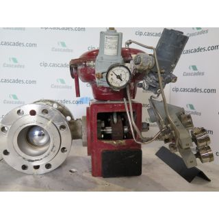 "FOR SALE - V-BALL VALVE - 4"" - MASONEILAN TYPE: 33-36414 - ACTUATOR MASONEILAN - POSITIONER FISHER CONTROL TYPE: 646 - USED"
