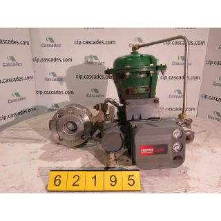 "USED V-BALL VALVE - 2"" - FISHER TYPE: V150 - ACTUATOR 2052 SIZE: 1 - POSITIONER FIELDVUE DVC 6200 - FOR SALE"