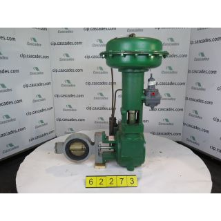 "BUTTERFLY VALVE - FISHER 9500 - 4"" - USED"