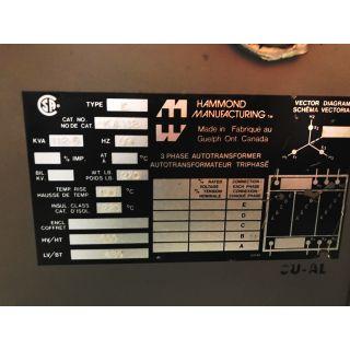 TRANSFORMER - HAMMOND MANUFACTURING - 112.5 KVA