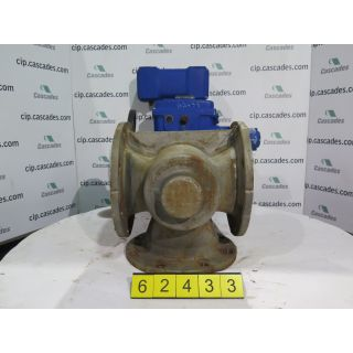 "PLUG VALVE - 3-WAY - DEZURIK - 8"" - USED"
