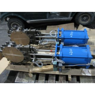 "KNIFE GATE VALVE - 10 "" - NAQIP - PNEUMATIC - RESILIENT SEAT"