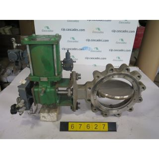 "USED BUTTERFLY VALVE - 10"" - FISHER TYPE: 8532 SIZE: 10 - FOR SALE"
