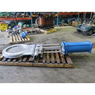 "KNIFE GATE VALVE - 30"" - TRUELINE - PNEUMATIC - RESILIENT SEAT"