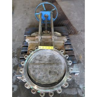 "KNIFE GATE VALVE - 24"" - NAQIP - MANUAL - RESILIENT SEAT - USED"