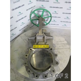 "KNIFE GATE VALVE - 14"" - ROVALVE - MANUAL - METAL SEAT - USED"