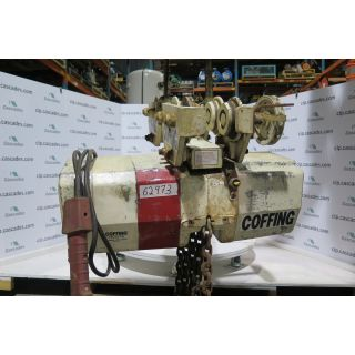 USED ELECTRIC CHAIN HOIST - 5 TON - COFFING - FOR SALE