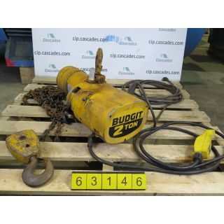 d. ELECTRIC HOIST - 2 TONS - BUDGET 115847-18