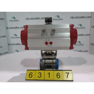 "BALL VALVE - 1.5"" SP - FLOW-TEK - 2200 WOG - ACTUATOR BRAY 93 SERIES"
