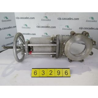 """KNIFE GATE VALVE - 6"""" - NAQIP - MANUAL - RESILIENT SEAT - USED"""