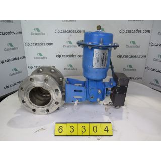 "V-BALL VALVE - NELES JAMESBURY - 4"" - USED"
