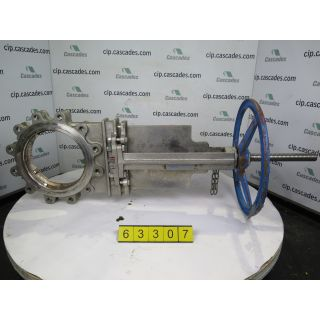 "KNIFE GATE VALVE - 10"" - VELAN - MANUAL - RESILIENT SEAT - USED"