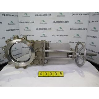 "KNIFE GATE VALVE - 10"" - NPV - MANUAL - RESILIENT SEAT - USED"