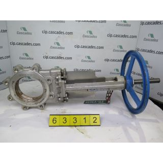 "KNIFE GATE VALVE - 6"" - VELAN - MANUAL - RESILIENT SEAT - USED"
