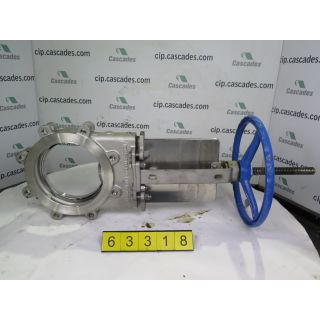 "KNIFE GATE VALVE - 8"" - VELAN - MANUAL - RESILIENT SEAT - USED"
