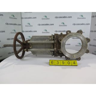 "KNIFE GATE VALVE - 8"" - NAQIP - MANUAL - METAL SEAT - USED"