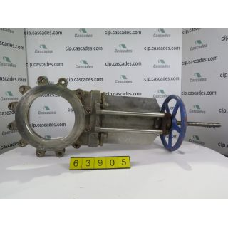 "KNIFE GATE VALVE - 10"" - TRUELINE - 10"" - MANUAL - METAL SEAT - USED"