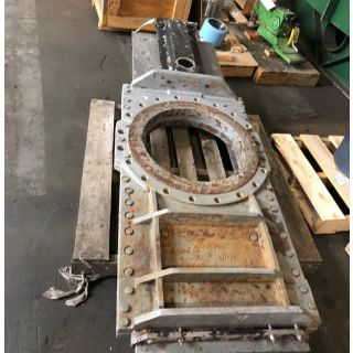 "KNIFE GATE VALVE - 24"" - STAFSJO - PNEUMATIC - METAL SEAT"