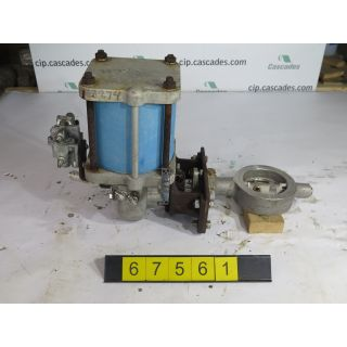 "BUTTERFLY VALVE - JAMESBURY WS-36 - 4"" - USED"