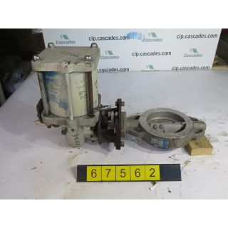 "BUTTERFLY VALVE - JAMESBURY - 6"" - USED"