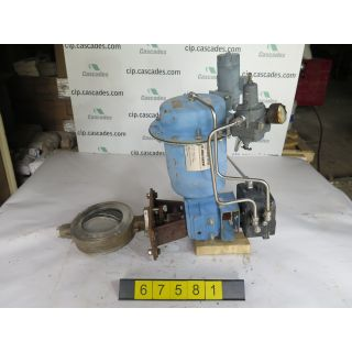 "BUTTERFLY VALVE - NELES JAMESBURY 815W - 6"" - USED"
