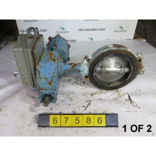 "1 OF 2 - BUTTERFLY VALVE - DEZURIK 9075387 - 8"" - USED"