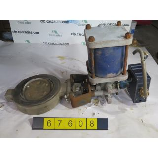 "Pre-Owned - BUTTERFLY VALVE - JAMESBURY 815W - 8"" - USED - FOR SALE"