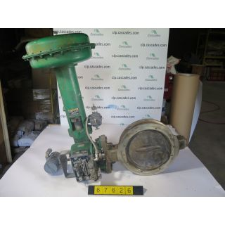 "BUTTERFLY VALVE - FISHER 8532 - 14"" - USED"