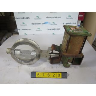 "USED BUTTERFLY VALVE - 10"" - FISHER SIZE: 10"" - ACTUATOR FISHER TYPE: 1066 SIZE: 75 - FOR SALE"