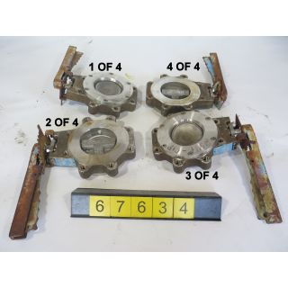 "QTY: 4 - BUTTERFLY VALVE - ROCKWELL MC CANNALOK 302L - 4"" - USED"
