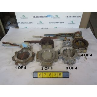 """BUTTERFLY VALVE - MANUAL - 6"""" - USED"""
