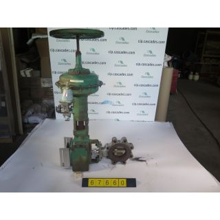 "BUTTERFLY VALVE - FISHER A31A - 4"" - USED"