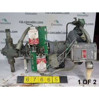"1 OF 2 - GLOBE VALVE - FISHER - 1"" - USED"