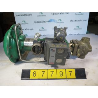 "LINEAR - GLOBE VALVE - FISHER EZ - .50"" - USED"