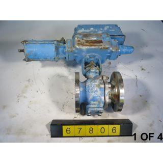 "1 OF 4 - V-BALL VALVE - DEZURIK 551E - 3"" - USED"