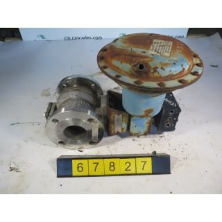 "V-BALL VALVE - DEZURIK 551 BM - 3"" - USED"
